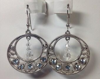 Clear Swarovski Crystal Go-Go Earrings, Chandelier Earrings, Swarovski Crystal Earrings, Dangle Earrings