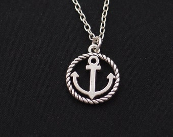tiny anchor necklace, sterling silver filled, silver anchor charm, mommy sister gift, best friend gift, nautical necklace,friendship jewelry