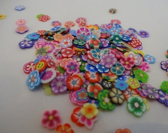 200 pcs mix fimo sliced mini flowers nails art decoration UV gel tips assorted polymer clay fimo nail art decoration