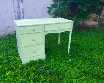 Vintage Shabby Chic Green Desk~SOLD