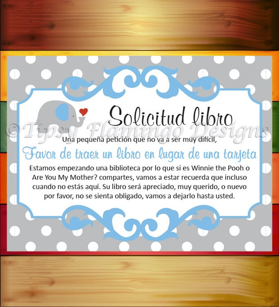 Baby Shower Games In Spanish: UNIQUE SPANISH Baby Shower Book Request Shower Game En