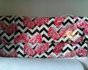 Chevron Rose Duct Tape Woman's Wallet