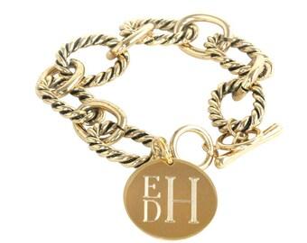 Engraved Chunky Link Bracelet