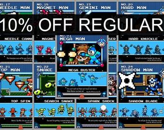 Mega Man 3 set (9 prints)