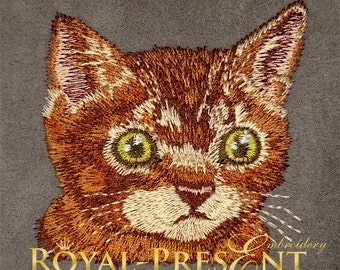 Machine Embroidery Design - Red Pocket Cat