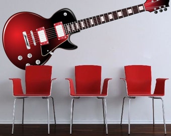 Guitar Wall Decor guitar wall decal | etsy