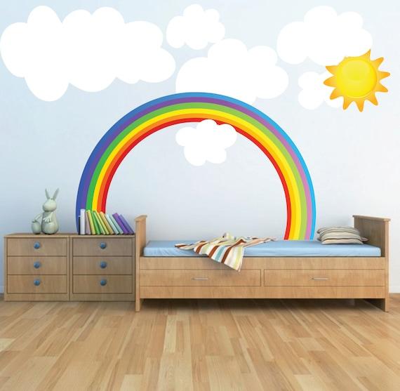 Rainbow Kids Room: Rainbow Wall Decal Kids Bedroom Rainbows Rainbow Wall Art