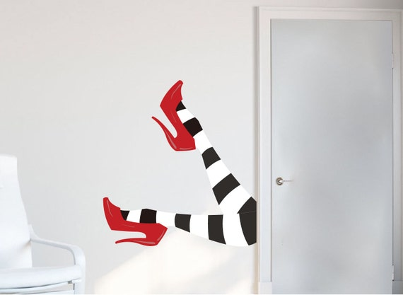 Wicked Witch Legs Decal Wizard Of Oz Wall Decals Witch Halloween Stickers  Witch Wall Legs Witch Wall Sticker Halloween Decor Witch Art, H06 Part 5