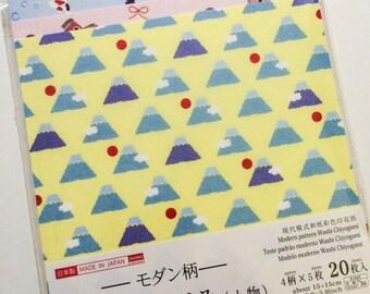 Washi Chiyogami - 20 Sheets of Modern Japanese Origami Paper