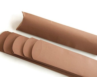 6 Chocolate brown Long pillow boxes/ brown gift boxes/ jewelry box/ favour boxes/ treat box