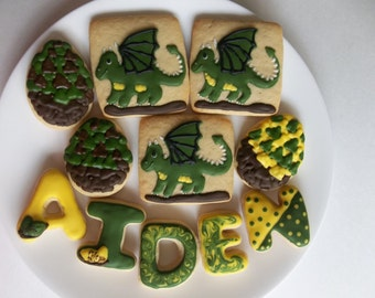 Dragon Decorated Cookies