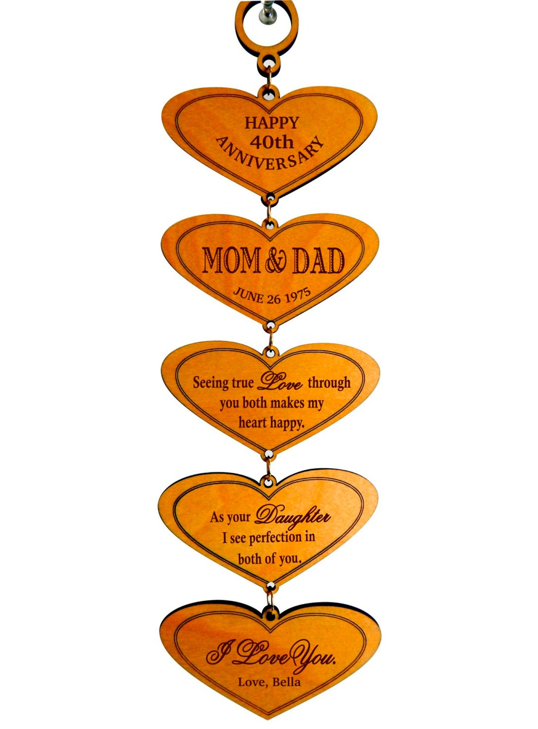 40th Wedding Anniversary Gift for Mom and Dad from