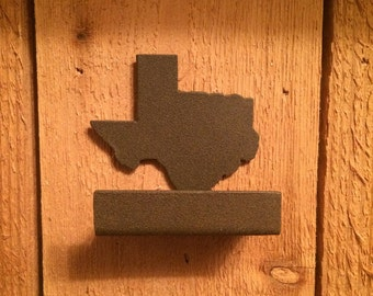 Texas Business Card holder Patina Brown Very nice on your Desk/on sale for Christmas/I will make this Rust color if you choose
