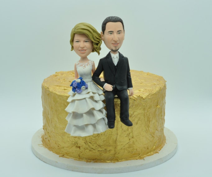 personalized cartoon wedding cake toppers wedding cake topper bobble heads custom figure 18261