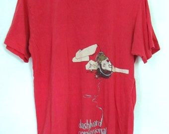 A Cool,Faded Red Vintage Cotton T Shirt.M