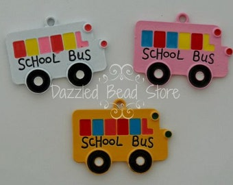 Chunky SCHOOL BUS charm/pendant