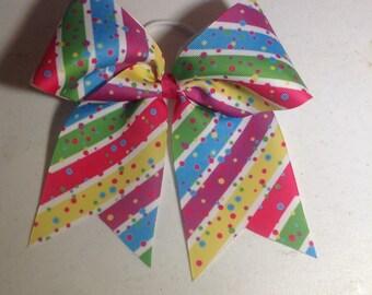 Multi color bow - birthday bow - Cheer Bow