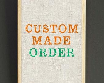 Customize Art Print Custom Make Poster House Wear Wall Art Decor Gift Linen Print