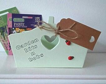 Garden box,  garden trug,  wooden garden box, garden accessories, gift for him,  garden gift, gift for women, garden storage
