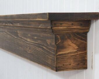 Rustic Wall Shelf, Country Shelf, Distressed Mantel, Mantel Shelf, Floating Shelf, Fireplace Mantel, Shabby Shelf, Housewarming Gift