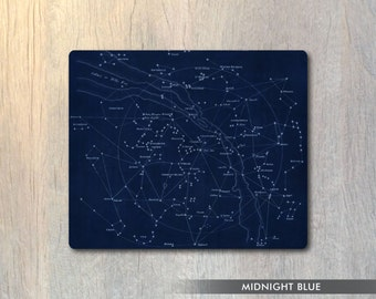 Constellations Stars Mouse Pad - Astronomy Celestial Space Computer or Office Work Station Decor