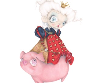 Alice Wonderland Tim Burton pop surrealism movie ORIGINAL