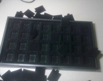 Black Velvet Earring Display Tray and 32 Inserts
