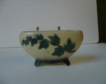 Oblong Vase with English Ivy Decoration