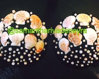 Mermaid bra pearls and shells