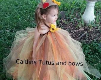 Scarecrow costume - scarecrow tutu - scarecrow dress - halloween tutu - scarecrow tutu dress - fall tutu dress - fall tutu - tutu costume