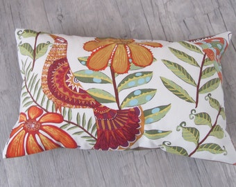 "Artistic Style Cushion 30x50cm (12""x20"") in Tropical Decor, Birds in Handmade, Throw Pillow, Butterfly decor, Home decoration, House warming"