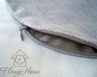 Linen Case for road cushion, Eco Pillowcase for Travel Neck Pillow