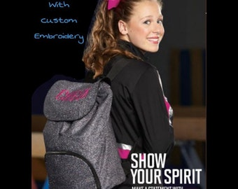 Glittery Backpacks with Custom Embroidery