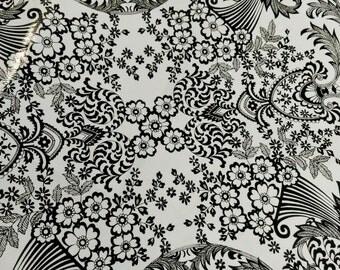 Oil Cloth White w/ Black Design