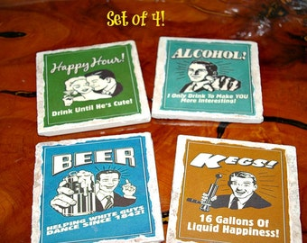 Happy Hour Coasters - Drink Up!