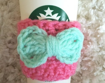 Customizable Coffee Sleeve with Bow