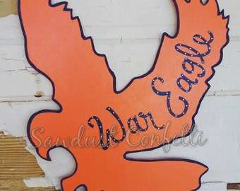 Eagle Door Hanger, Auburn Door Hanger, War Eagle, Auburn Door Decor, War Eagle Door Hanger, Auburn