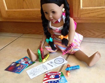 Crayons Perfect Size for 18 inch Dolls, American Girl