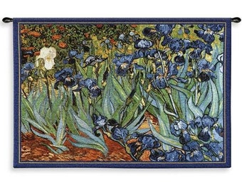 "Van Goghs Irises Wall Hanging - 53"" x 38"""