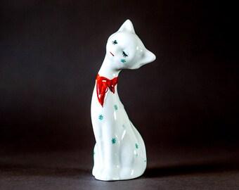 Vintage Cat - Kitsch with Star design scarf