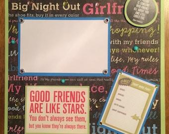 "12x12 Premade Scrapbook Page-""Friendship"""