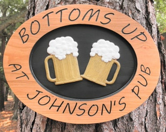 "Shop ""personalized bar signs"" in Home Décor"