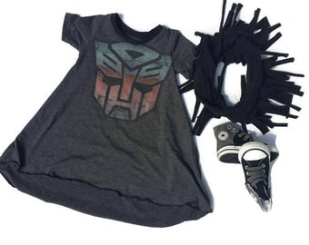 1-2 year Transformers Dress 2-3 year transformer tunic