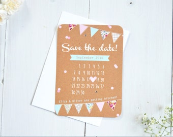 Country Bunting Save the Date
