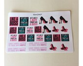 Like a boss stickers. Glam stickers for the boss lady in you.