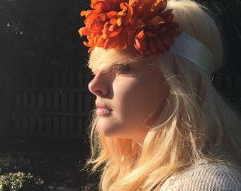 Burnt Orange Flower Crown