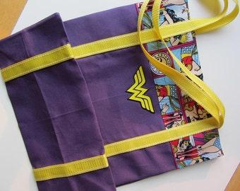Purple Wonder Woman Tote Bag