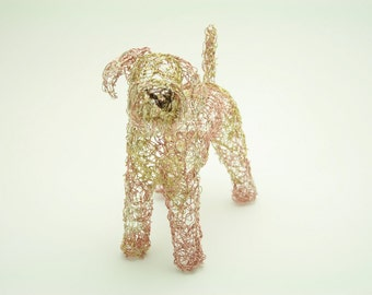 airedale terrier wire sculpture