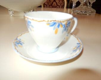ENGLAND SAMPSON SMITH Old Royal Teacup and Saucer