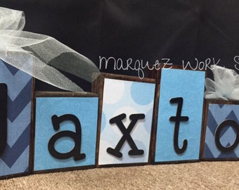 Wooden Name Blocks / Customized / Personalized